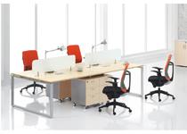 时尚钢木办公屏风桌-34